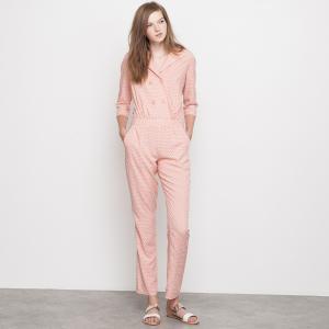 Комбинезон с брюками струящийся MADEMOISELLE R. Цвет: наб. рисунок/ розовый