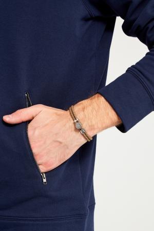 Кожаный браслет цвета хаки Canali. Цвет: бежевый