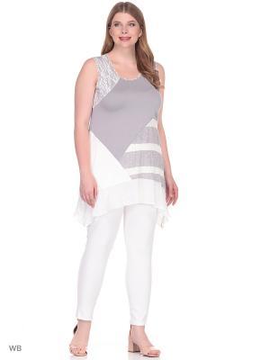 Блузка BERKLINE. Цвет: серый