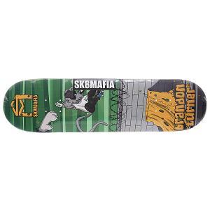 Дека для скейтборда  Turner Sk8rats Green 32.12 x 8.19 (20.8 см) Sk8mafia. Цвет: мультиколор