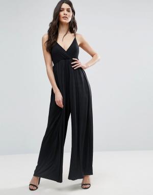Jasmine Комбинезон с широкими штанинами. Цвет: черный