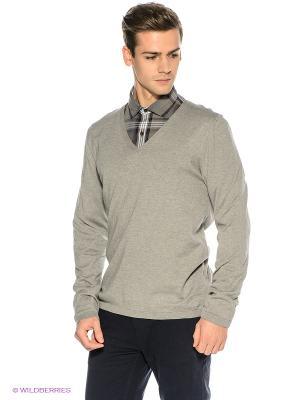 Пуловер S.OLIVER. Цвет: серый меланж