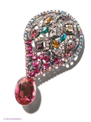 Брошь Lovely Jewelry. Цвет: розовый, голубой, желтый, серебристый