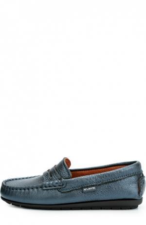 Кожаные мокасины с перемычкой Atlanta Mocassin. Цвет: синий