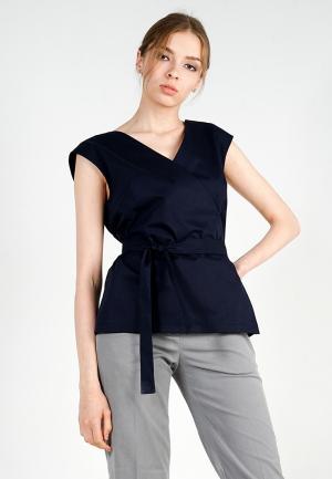Блуза BURLO. Цвет: синий