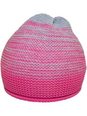 Шапка YO!. Цвет: серый, розовый