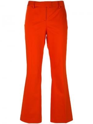 Укороченные расклешенные брюки Boutique Moschino. Цвет: жёлтый и оранжевый