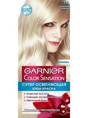 Стойкая крем-краска для волос Color Sensation, Роскошь цвета, оттенок 111, Ультра блонд платиновый Garnier. Цвет: светло-бежевый
