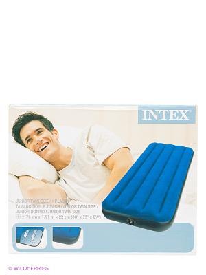 Надувной матрас-кровать Intex. Цвет: синий, черный