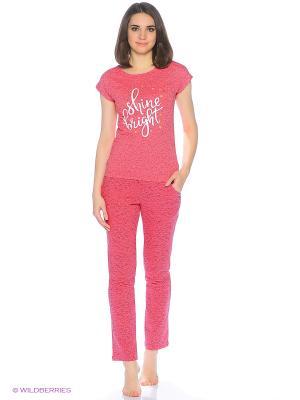 Комплект домашней одежды ( футболка, брюки) HomeLike. Цвет: розовый
