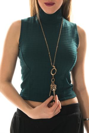 Блуза BSL FASHION. Цвет: зеленый