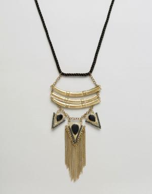Raga Ожерелье с подвесками-стрелами и бахромой. Цвет: золотой