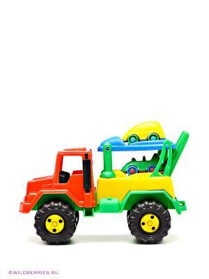 Игрушка «Грузовик с машинками» AVC. Цвет: зеленый, красный, желтый