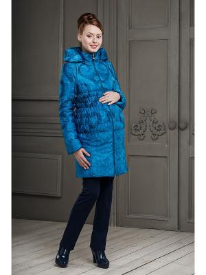 Пальто DIDILIYA. Цвет: лазурный