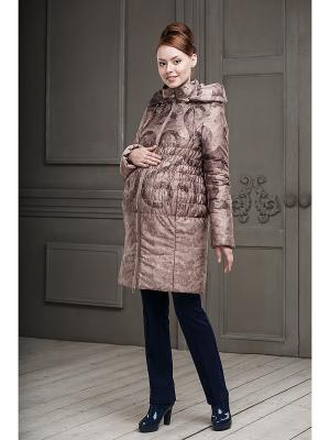 Пальто DIDILIYA. Цвет: темно-бежевый