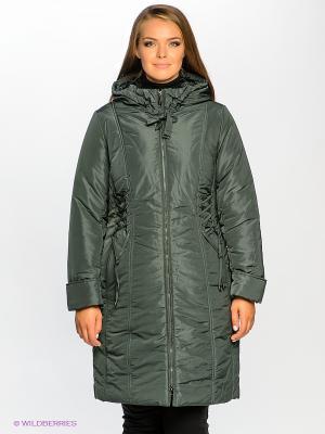 Пальто D`imma. Цвет: темно-зеленый