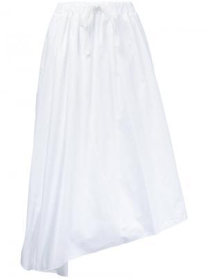 Асимметричная юбка Astraet. Цвет: белый