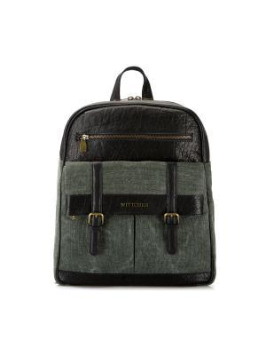 Рюкзак WITTCHEN. Цвет: зеленый, черный