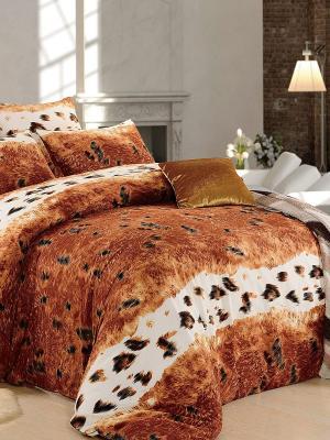 Комплект постельного белья, Гепард, 1.5 спальный KAZANOV.A.. Цвет: коричневый