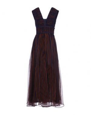 Длинное платье NANUSHKA. Цвет: темно-синий