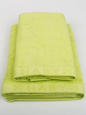 Полотенце Мираж DAILY by TOGAS. Цвет: зеленый