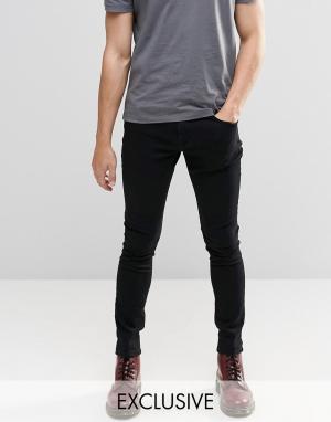 Brooklyn Supply Co. Черные суперзауженные джинсы Co Dyker. Цвет: черный