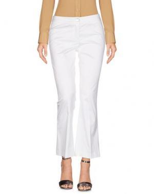 Повседневные брюки ULTRA'CHIC. Цвет: белый