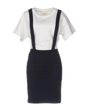 Короткое платье BAND OF OUTSIDERS. Цвет: белый