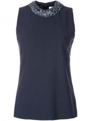 Декорированная блузка Fig Goat. Цвет: серый