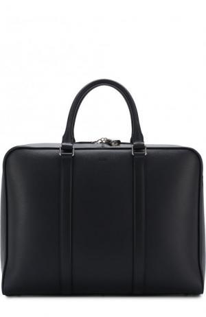 Кожаная сумка для ноутбука с плечевым ремнем Tod's. Цвет: синий