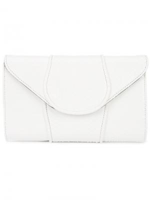 Клатч-конверт Khirma Eliazov. Цвет: белый