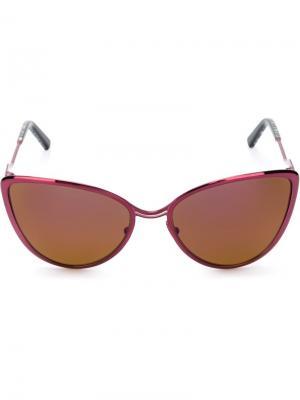 Солнцезащитные очки в оправе кошачий глаз Cutler & Gross. Цвет: розовый и фиолетовый