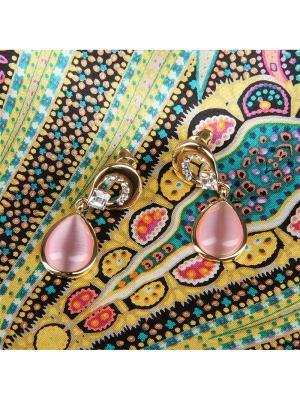 73015 Набор подарочный, Платок+серьги Venuse. Цвет: салатовый, лиловый