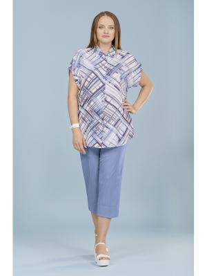 Блузка LALIS. Цвет: голубой