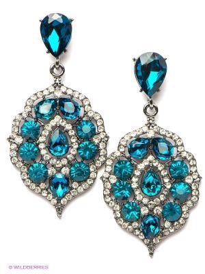Серьги Lovely Jewelry. Цвет: бирюзовый