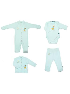 Комплект одежды для малышей SNO KATT. Цвет: салатовый