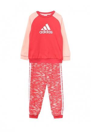 Костюм спортивный adidas Performance. Цвет: розовый