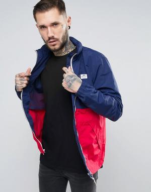 Penfield Двухцветная куртка с убирающимся капюшоном Barnes. Цвет: темно-синий