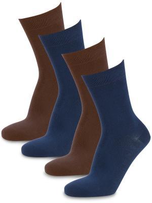 Носки Dreamer , (4 пары) Artsocks. Цвет: коричневый, синий