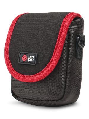 Era Pro Чехол для фотоаппарата EP-010910  9,5х6х3 см., чер/кр. Цвет: красный, черный
