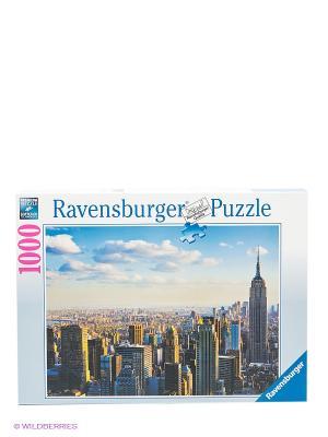 Пазл Утро на Манхэттене, 1000 шт Ravensburger. Цвет: голубой, коричневый, серо-зеленый, синий