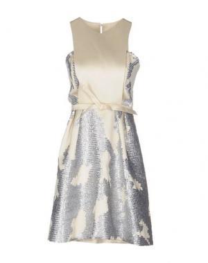 Короткое платье DICE KAYEK. Цвет: слоновая кость