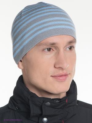 Шапка Baon. Цвет: светло-серый, голубой