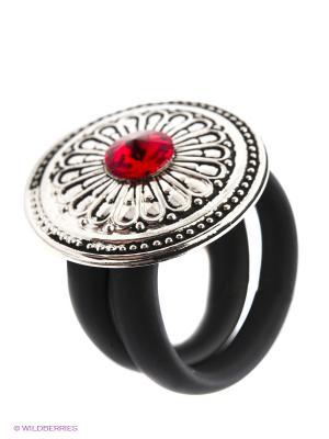 Кольцо NAVELL. Цвет: серебристый, красный, черный