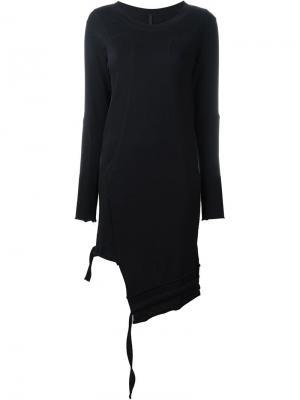 Трикотажное платье с длинными рукавами Barbara I Gongini. Цвет: чёрный