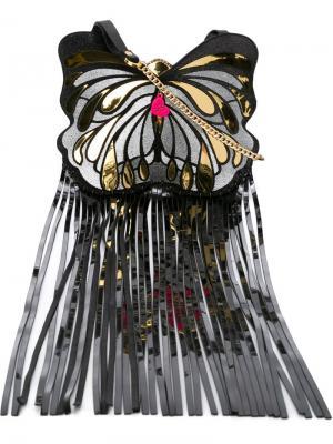 Сумка через плечо в форме бабочки Manish Arora. Цвет: чёрный