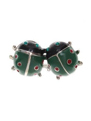Брошь Happy Charms Family. Цвет: зеленый, голубой, серебристый, красный, черный