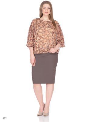 Блузка BARTELLI. Цвет: коричневый, рыжий