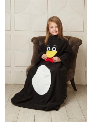 Детский плед с рукавами Пингвин МАРНИ HandyWear. Цвет: черный