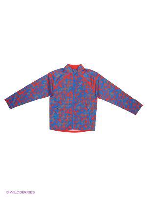 Куртка Woven Jacket ASICS. Цвет: синий, красный, белый